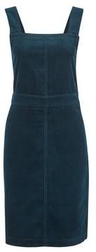Dorothy Perkins Womens Tall Teal Cord Pinafore Cotton Dress