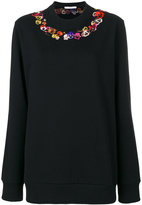 Givenchy poppy embroidered sweatshirt - women - Cotton - XS