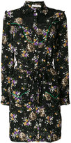 Coach dog and floral print shirt dress