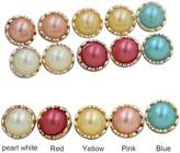 CoulorButtons Round Resin Pearl Gold Edge Button Sewing DIY Craft Accessories