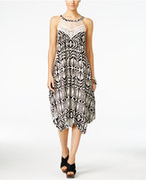 INC International Concepts Petite Printed Handkerchief-Hem Midi Dress, Only at Macy's