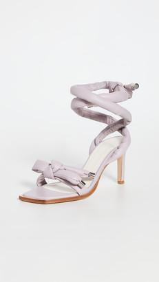 Tibi Nils Square Toe Wrapped Sandals