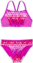 Speedo Girls' Illusion Cubes Splice Camkini Two Piece Swimsuit (7yrs16yrs) - 8137084