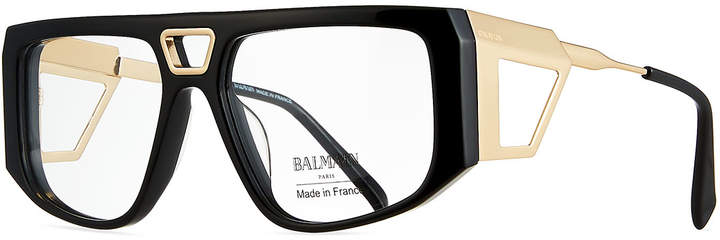 Balmain Acetate Shield Optical Frames