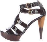 Stuart Weitzman Patent Leather Platform Sandals