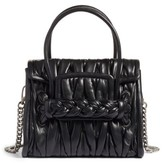 Miu Miu Matelasse Leather Satchel - Black