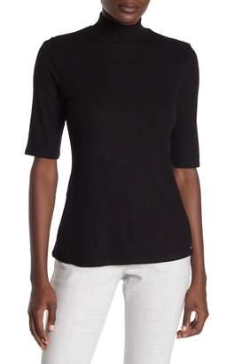 T Tahari Mock Neck Elbow Sleeve Pullover