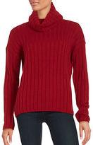 Lord & Taylor Petite Merino Wool Ribbed Turtleneck Sweater