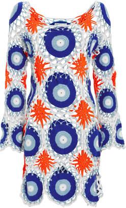 My Beachy Side Harmonia Crochet Mini Dress