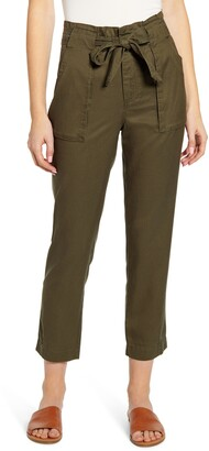 Wit & Wisdom High Waist Paperbag Ankle Pants