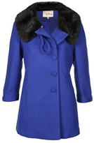 Darling Vanessa Fur Collar Coat