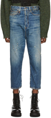 R 13 Blue Baggy Drop Jeans