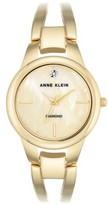 Anne Klein Women's Diamond Oval Bangle Watch, 32Mm
