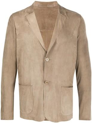 Salvatore Santoro leather single breasted jacket