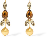 Marni Gold-plated Crystal Earrings - one size