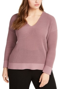 Eileen Fisher Plus Size Dropped Shoulder Sweater