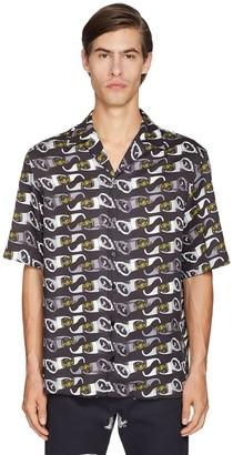 Versace Glasses Printed Short Sleeved Shirt