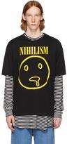Lad Musician Black Permanent Rocker Nihilism T-Shirt