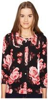 Kate Spade Rambling Roses Rosa Lace Trim Cardigan Women's Sweater
