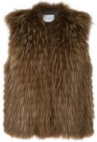 Yves Salomon cropped sleeveless jacket - women - Polyamide/Polyester/Spandex/Elastane/Marmot Fur - 36