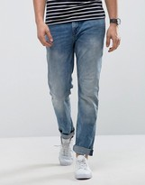 Only & Sons Slim Fit Jean In Medium Blue Wash