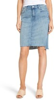 Mother Women's The Peg Step Fray Pencil Skirt