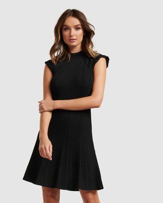 Forever New Ebony A-line Pointelle Knit Dress