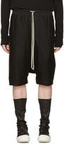 Rick Owens Black Mesh Ricks Pods Shorts