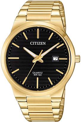 Citizen Men Quartz Gold-Tone Stainless Steel Bracelet Watch 39mm