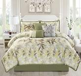 "Chezmoi Collection KAMA 7-piece Luxury Embroidery Bamboo Forest Bedding Comforter Set (Full, 86"" x 88"")"