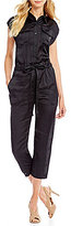 M.S.S.P. Belted Solid Cascade Jumpsuit