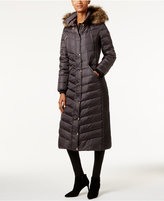 MICHAEL Michael Kors Faux-Fur-Trim Down Maxi Puffer Coat