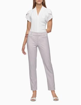 Calvin Klein Modern Essentials Stretch Lilac Melange Ankle Pants