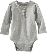 Osh Kosh Knit Bodysuit (Baby) - Heather-3 Months