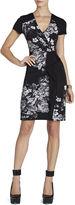 BCBGMAXAZRIA Laudy Side-Ruffle Wrap Dress