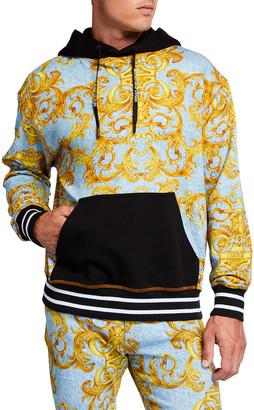 Versace Jeans Couture Men's Denim Baroque Sport Hoodie