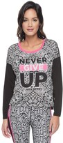 Juicy Couture Never Give Up Sporty Python Top