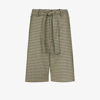 Plan C Tie Waist Check Shorts