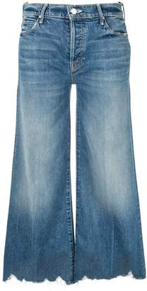 Mother cropped wide-leg jeans