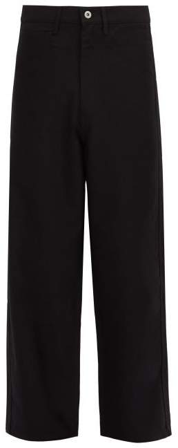 Junya Watanabe High Rise Cotton And Wool Blend Jeans - Mens - Black