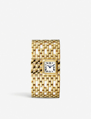 Cartier Panthere de Manchette 18ct yellow-gold watch