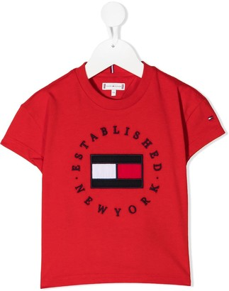 Tommy Hilfiger Junior Heritage embroidered logo T-shirt