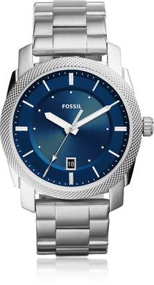 Fossil Machine Three-Hand Date Stainless Steel Men's Watch