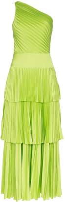 SOLACE London Larrisa one-shoulder pleated dress
