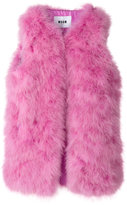 MSGM fur gillet - women - Polyester/Turkey Feather - 40