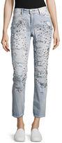 True Religion Embellished Rolled Boyfriend Jeans
