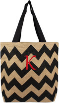 Cathy's Concepts Personalized Black Chevron Extra-Large Tote Bag