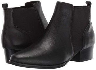 Aerosoles Criss Cross (Black Leather) Women's Boots