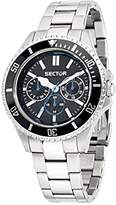 Sector No Limits 235 Men's Quartz Watch with Black Dial Analogue Display and Silver Stainless Steel Strap R3253161007
