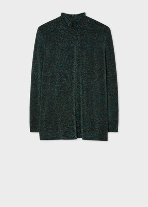 Paul Smith Women's Dark Petrol Glitter Smock Top